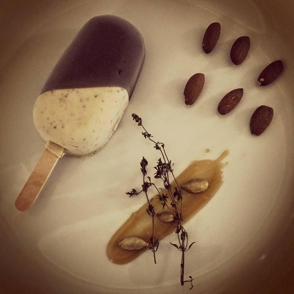 Cardamom,Pistachio & Almond infused Ice Cream